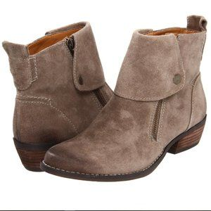 Nine West Vintage Vableaker Taupe Suede Booties 6